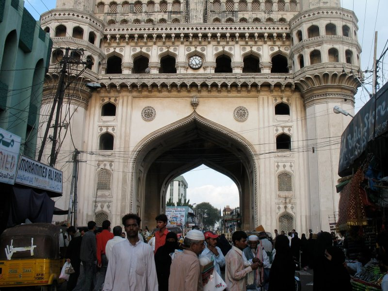 Charminar and people